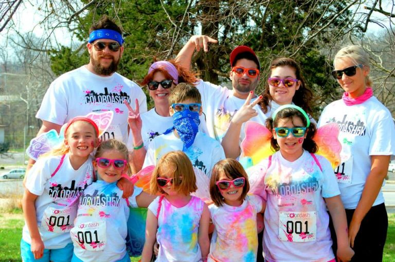 Being Healthy doing a color dash for the animal shelter