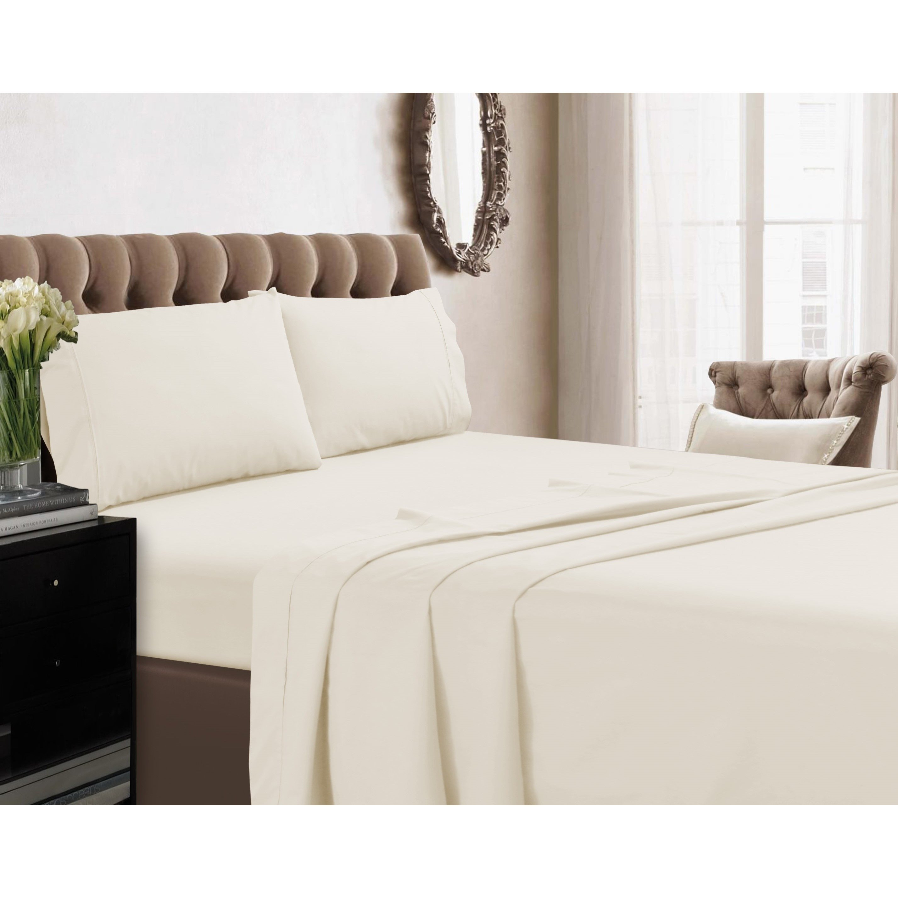 King Bed Set(Off White)Earthing /Grounding with 15″ Deep ...